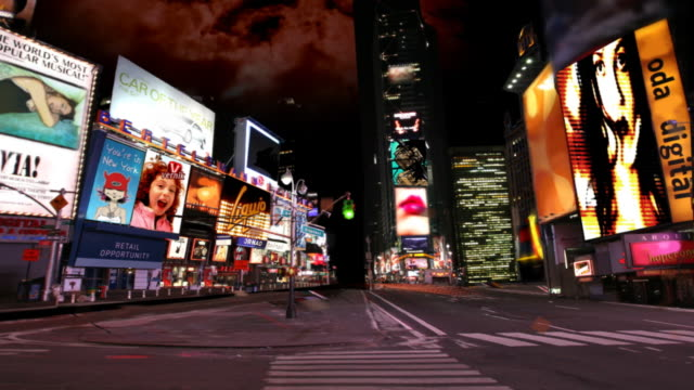 Times square dark animation
