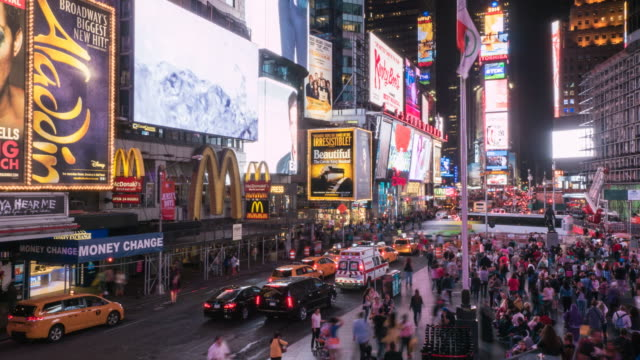 Times Square, New York, Time Lapse.