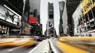 T/L ZO Times Square noir effect