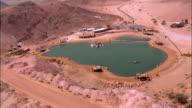 AERIAL Timna lake in Negev Desert, Israel