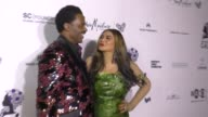 Tina KnowlesLawson and Richard Lawson at The Wearable Art Gala at California African American Museum on April 29 2017 in Los Angeles California