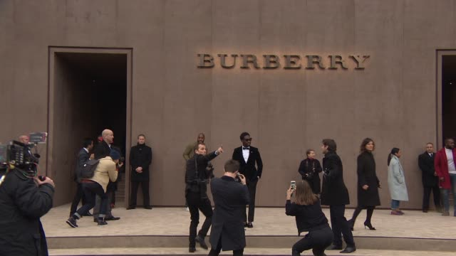 Tinie Tempah at Burberry Prorsum A/W 2015 Show on January 12 2015 in London England