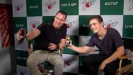 Tiësto Martin Garrix at 7UP® Amps Up Miami Music Week With New Collaboration Ft Tiesto and Martin Garrix at W Hotel on March 26 2015 in Miami Florida