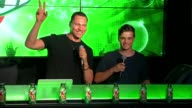 SPEECH Tiësto Martin Garrix introduce their new song and cans at 7UP® Amps Up Miami Music Week With New Collaboration Ft Tiesto and Martin Garrix at...