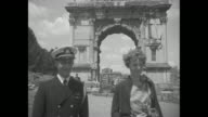 'Amelia Earhart Putnam visits Rome's famous St Peters and sees ancient Colosseum on tour ruins June 17 1932 Mrs Putnam pilots huge passenger plane...