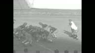 'Football Plays Explained Jim Crowley coach of Fordham University and one of Notre Dame's famous 'Four Horsemen' describes them' / Fordham Rams coach...