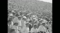 'Highlights of Olympics America first on field and track after recordbreaking performances' / 8/4/1932 runners race in track event at 1932 Summer...