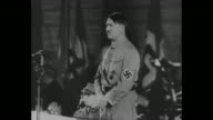 'Hitler's First Speech as Chancellor 30 January 1933' [this title is incorrect event is actually Hitler speaking at Sportpalast in February] / pan...