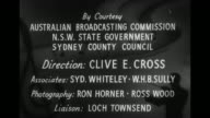 'Professor Heinze ABC's the Children' / credits 'by courtesy Australian Broadcasting Commission' etc / Zoom to Prof Bernard Heinze stepping on...