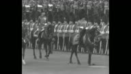 'Tribute to their King London The country's military salute 'Trooping of colors' makes 67th birthday of King George V' / group of Grenadier Guards...