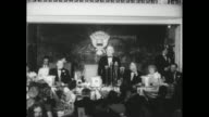 'Truman Inaugural' / Title card 'Warner Pathe News presents the gala story of the Inauguration of Harry Truman 33rd President of the USA' / shot from...