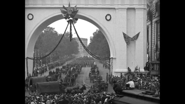 'Washington DC Nation pays homage to Victory army General Pershing leads last parade of the First Division through lanes of cheering thousands and...