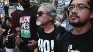 Title of protest 'Trump Pence Regime Must GO' Activist from RefuseFascismorg and Black Lives Matter of Greater New York gathered on 5th Avenue and...