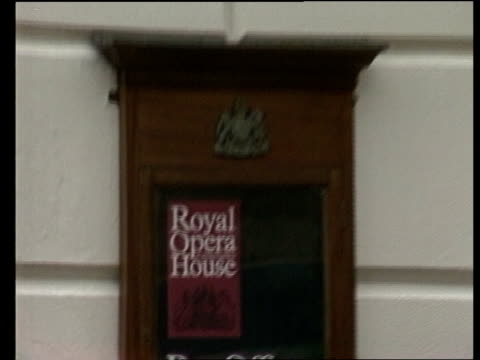 London Royal Opera Hse Royal Opera House box office PULL BACK and TILT UP