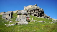 Tlos ancient city from Fethiye. Mugla / Turkey