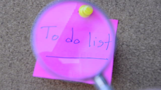 To do list note