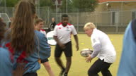 To mark the start of Rugby World Cup 2015 the Mayor of London Boris Johnson took part in a rugby coaching session with England legend Jason Leonard...
