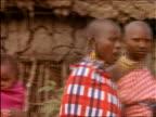 PAN to Masai women holding babies