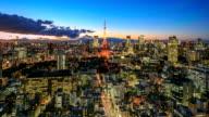Tokyo city at twilight