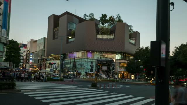 Tokyo crossing in Harajuku district, Japan - Stock Video
