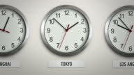 Tokyo international time zone wall clock with 12 hour loop