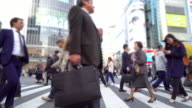 Tokyo, Japan view of Shibuya Crossing