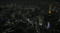 Tokyo night aerial image - Roppongi and Tokyo Tower