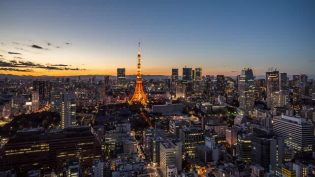 Tokyo Skyline Dusk to Night Transition / Tokyo, Japan