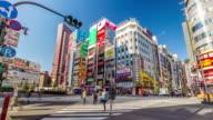 Tokyo time lapse at shinjuku district