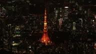 AERIAL, Tokyo Tower At Night, Japan