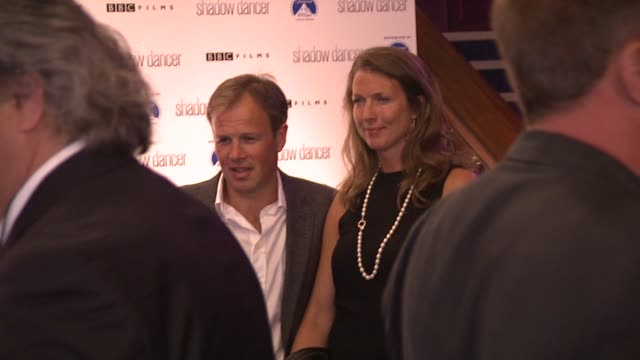 Tom Bradby and his wife Claudia at the Shadow Dancer UK Premiere at Cineworld Haymarket on August 13 2012 in London England