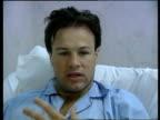 Tom Bradby injury INT MS Tom Bradby interview SOT Talks of his injury MS Nurse attending to Bradby