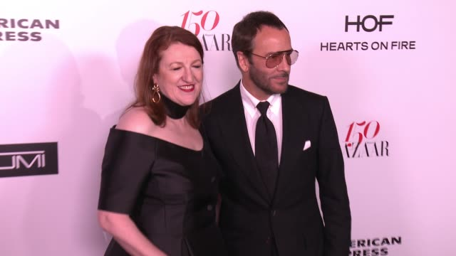 Tom Ford and Glenda Bailey at the Harper's BAZAAR Celebrates 150 Most Fashionable Women at Sunset Tower on January 27 2017 in West Hollywood...