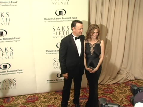 Tom Hanks and Rita Wilson at the 2005 Courage Award Given To Lance Armstrong At Saks Fifth Avenues Unforgettable Evening at Regent Beverly Wilshire...