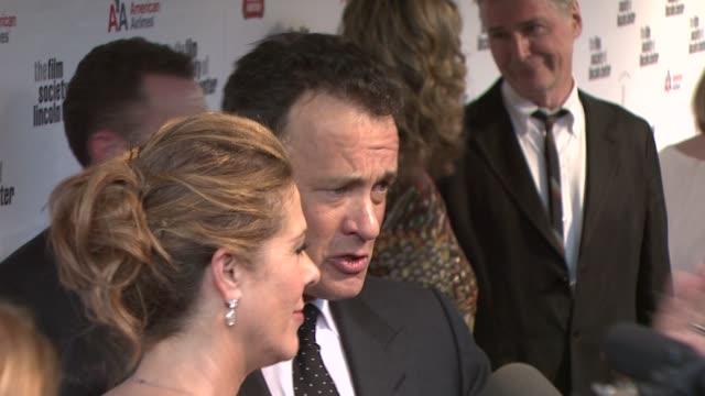 Tom Hanks and Rita Wilson at the Film Society Of Lincoln Center's 36th Gala Tribute Honoring Tom Hanks at New York NY