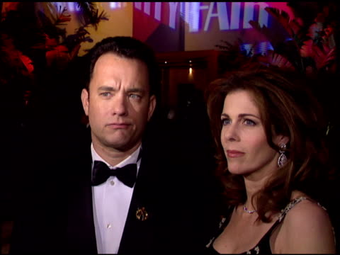 Tom Hanks at the 1996 Academy Awards Vanity Fair Party at Morton's in West Hollywood California on March 25 1996