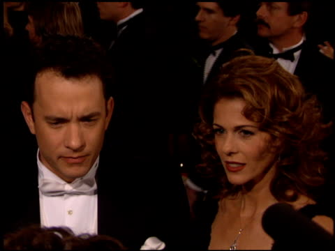 Tom Hanks at the AFI Achievement Awards Honoring Spielberg at the Beverly Hilton in Beverly Hills California on March 2 1995