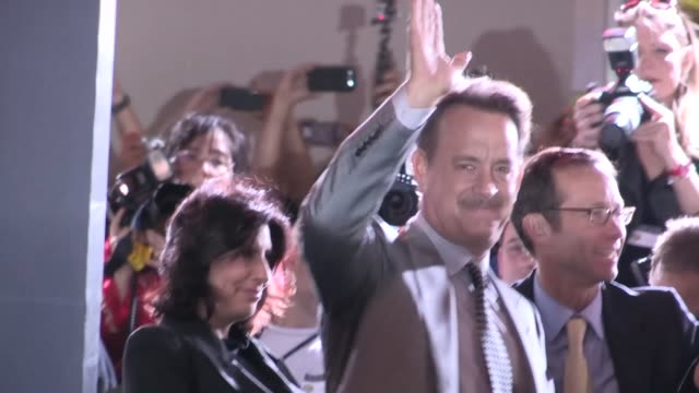 Tom Hanks Rita Wilson arrive at the Cloud Atlas Premiere in Hollywood 10/24/12