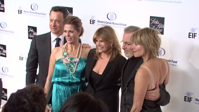 Tom Hanks Rita Wilson foundation member Steven Spielberg Kate Capshaw at the Saks Fifth Avenue's 'An Unforgettable Evening' at Los Angeles CA
