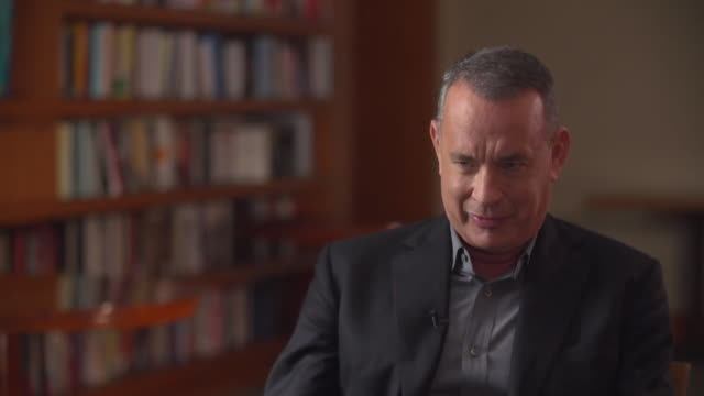 Tom Hanks saying 'perhaps all men should pipe down' regarding the Harvey Weinstein case