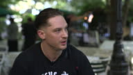 INTERVIEW Tom Hardy on reading lines on auto queues at 'Locke' Interviews on September 01 2013 in Venice Italy