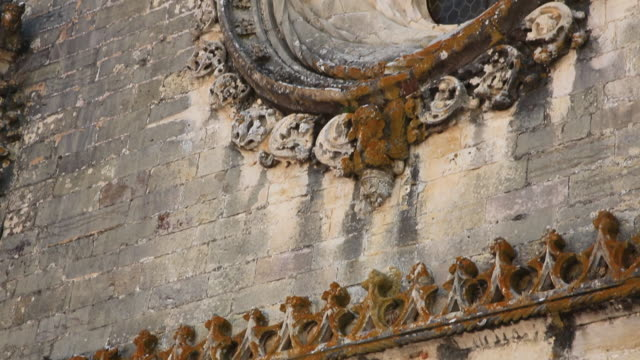 Tomar, Convent of the Order of Christ (Convento de Cristo), Manueline window, 1510-13 late Gothic Manueline style