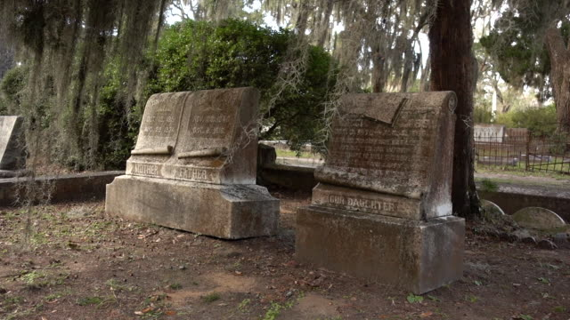 Tombstones at an Historic Cemetery