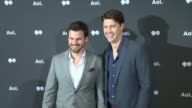 Tommy Dewey and Tug Coker at AOL NewFronts 2016 at Seaport District NYC on May 03 2016 in New York City