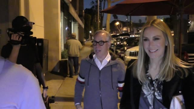 Tommy Hilfiger outside Craig's Restaurant in West Hollywood in Celebrity Sightings in Los Angeles