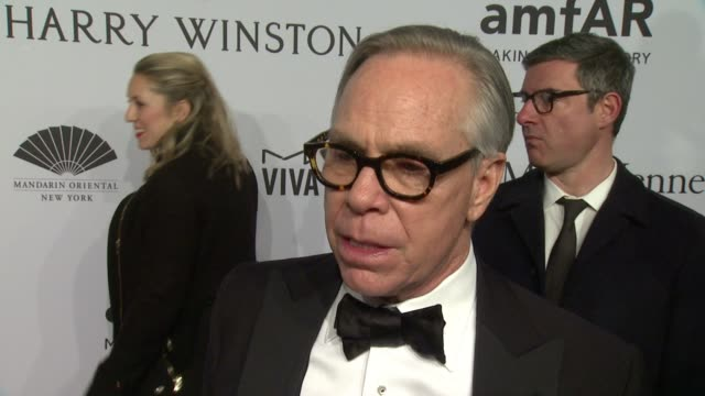 INTERVIEW Tommy Hilfiger talks about why he supports amfAR He is looking forward to the event Talks about why Harvey deserves to be honored ' He...