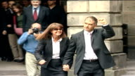 Tommy Sheridan condemns confession video as a concoction TX Edinburgh Court of Session Tommy Sheridan with wife Gail Sheridan towards press