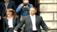 Tommy Sheridan condemns confession video as a concoction TX Sheridan and Gail leave court of session followed by press