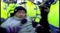Tommy Sheridan arrested during demonstration against Trident nuclear weapon submarines kept at Faslane