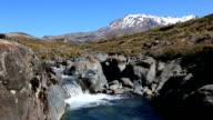 Tongariro River and Volcano, North Island, New Zealand